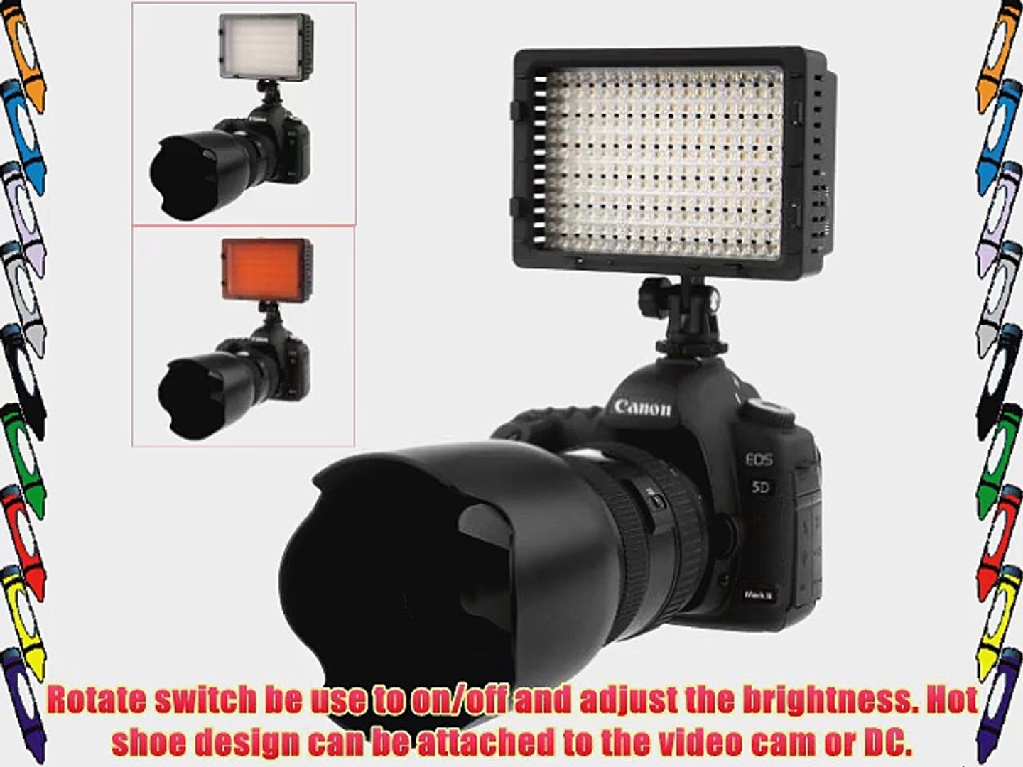 Neewer? CN-216 216PCS LED Dimmable Ultra High Power Panel Digital Camera / Camcorder Video