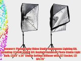 Neewer? Photography Video Studio Continuous Lighting Kit including (2)45W 5500K CFL Daylight