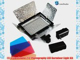 LimoStudio Photography 212 LED Barndoor Photo Video Camera Light Kit 4Color Filters with Battery