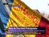 Marş de Ziua Unirii Principatelor la Sfântu Gheorghe, în straie populare şi cu steaguri vechi de zeci de ani. Festivitățile s-au încheiat cu Hora Unirii în care s-au prins toţi cei prezenţi.