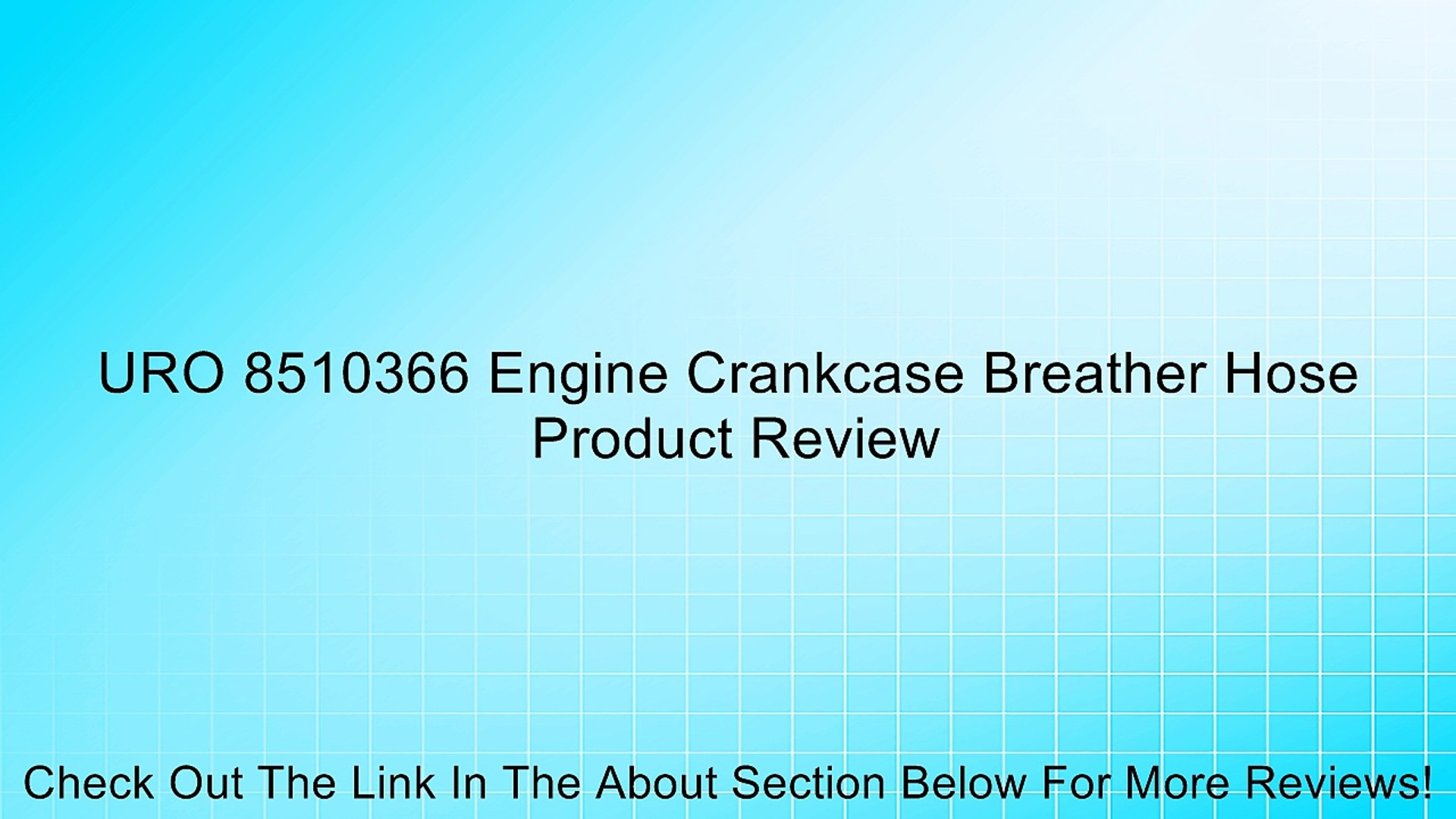 URO Parts 11 61 7 504 536 Oil Separator to Valve Cover Breather Hose