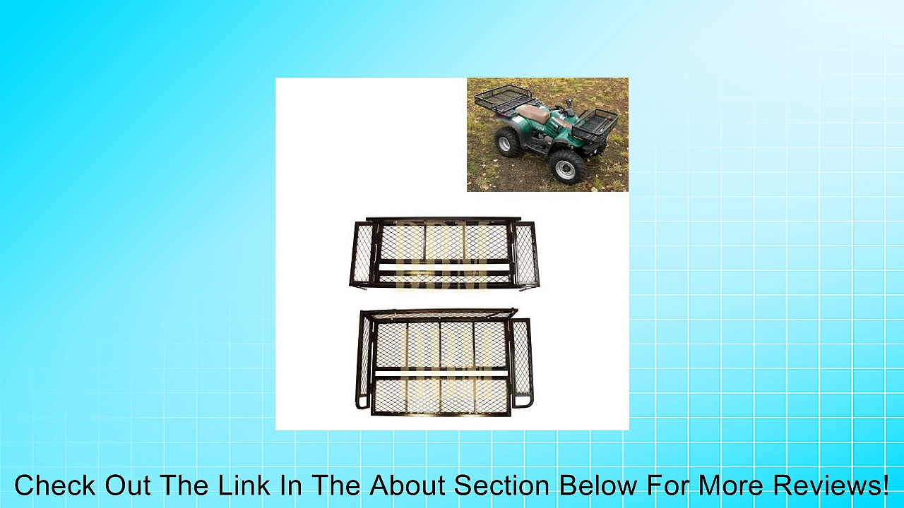 Universal ATV Front & Rear Basket Cargo Carrier Racks Cargo Racks ATV Racks Review