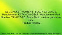 GL-3 JACKET WOMEN'S -BLACK 3X-LARGE, Manufacturer: KATAHDIN GEAR, Manufacturer Part Number: 7410127-AD, Stock Photo - Actual parts may vary. Review