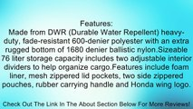 Honda Genuine Accessories Soft ATV Rack Bag Rear - 08L56-HN8-100B Review
