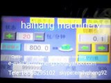 PLC controller / touch screen automatic plastic cup counting and packaging machine