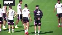Cristiano Ronaldo & Modrić Pranking On Marcelo In Real Madrid Training vs Cordoba