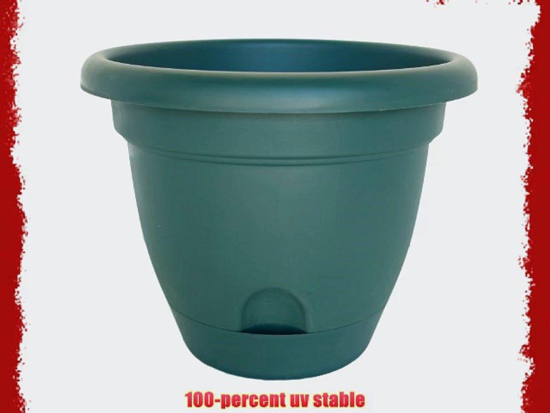 Bloem Living LP1852 Lucca Self-Watering Planter 18-Inch Midsummer Night