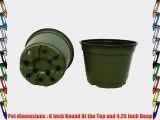 100 NEW 6 Inch TEKU Plastic Nursery Pots - Azalea Style ~ Pots ARE 6 Inch Round At the Top