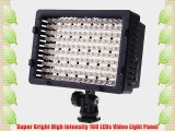 ePhoto DV160 160 LED 5400K Pro Super Bright Dimmable Camera Video Shoe Mount Light Panel with