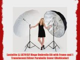 Lastolite LL LU7915F Mega Umbrella Kit with Frame and 1 Translucent/Silver Parabolic Cover