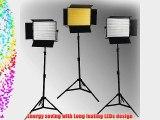 ePhoto Dimmable 3 x 1200 LED Lite Panel Video Photography LED Lighting Kit by ePhotoInc ULS1200Hx3