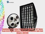 LimoStudio Photo Video Photography Studio 26 x 20 Honey Comb Grid Softbox Diffuser Reflector