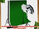 LimoStudio Photo Studio 10'x12' Double Muslin Black White Green Chromakey Backdrop Support