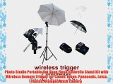 Photo Studio Portable Hot Shoe Flash Umbrella Stand Kit with Wireless Remote Trigger for Canon