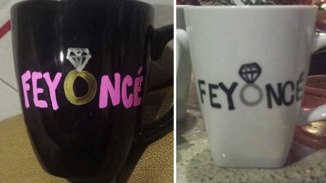 Beyonce Goes After Feyonce Mugs on Etsy