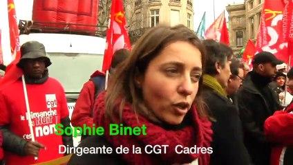 """[Sophie Binet] Éthique, santé, droits, """"Le travail des cadres sera particulièrement affecté par la Loi Macron"""""""