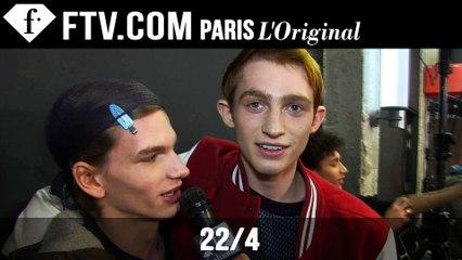 22/4 Men Backstage | Paris Men's Fashion Week Fall/Winter 2015-16 | FashionTV