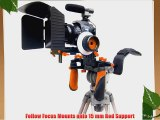ePhoto Shoulder Rig DSLR Camera Rig Support Steady Rig Follow Focus Matte box Kit for Canon