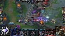 Top 5 moves LCS Spring Split week 1 - League of Legends
