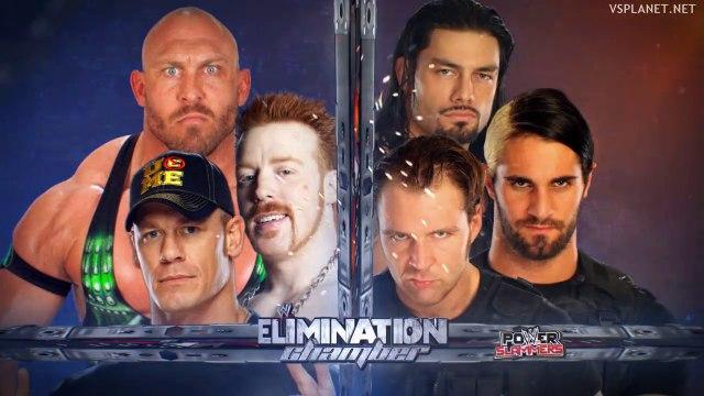 John Cena, Ryback & Sheamus vs SHIELD (Dean Ambrose, Roman Reigns & Seth Rollins) - WWE Elimination Chamber 2013