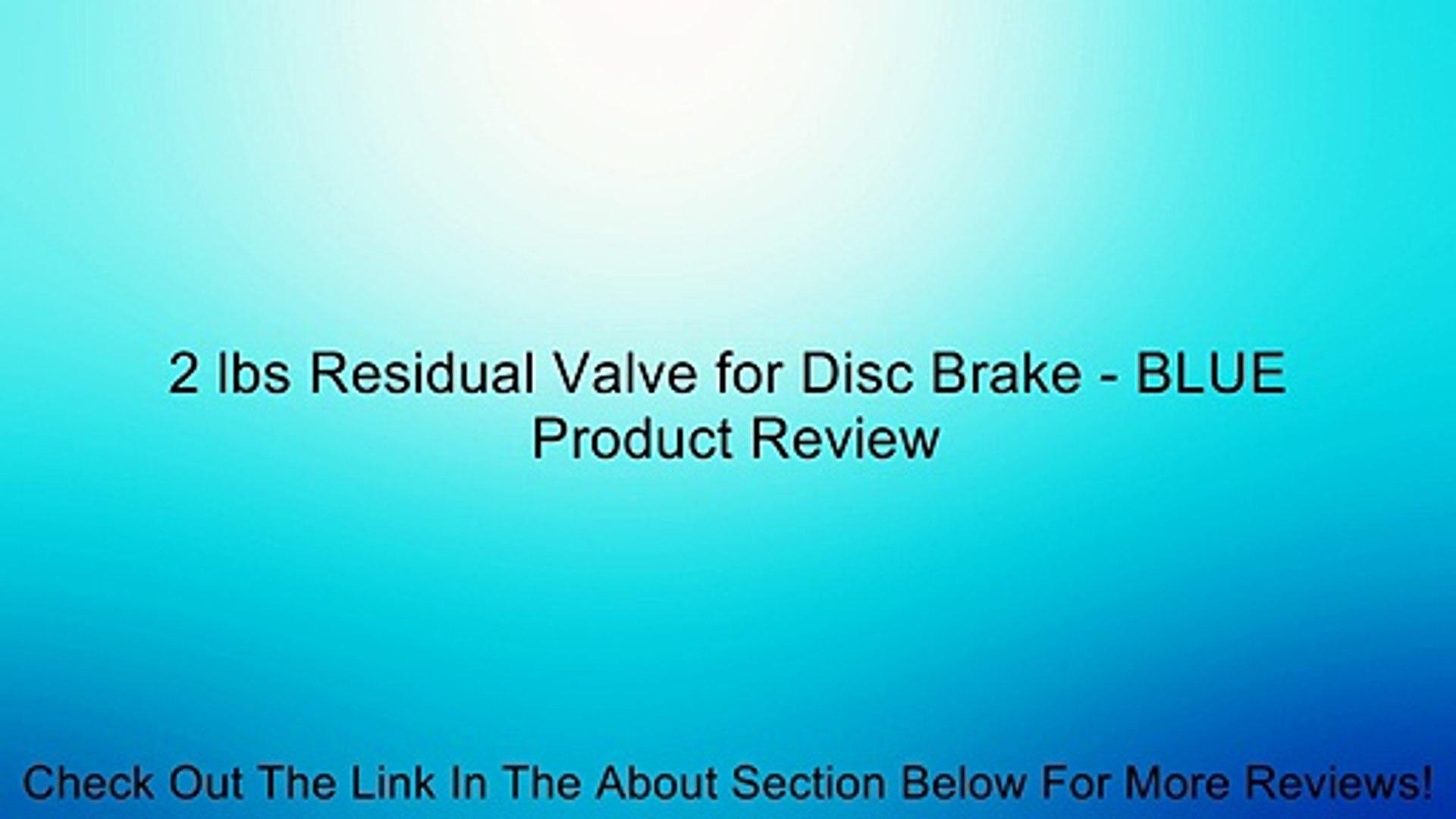 Residual Check Valve Disc Disc 2lbs