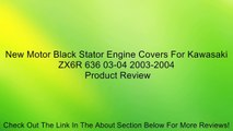 New Motor Black Stator Engine Covers For Kawasaki ZX6R 636 03-04 2003-2004 Review