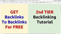 How To Get Backlinks For FREE - Unlimited High Quality Backlinks On Autopilot HD Videos