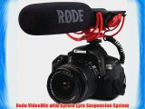 Rode Videomic Shotgun Microphone with Rycote Lyre Mount and Fuzzy Windjammer Kit