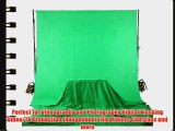 Square Perfect 4037 Professional Quality 10 x 13 Feet Chromakey Green Screen Muslin Backdrop