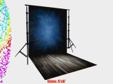 PRINTED PHOTOGRAPHY BACKGROUND AND FLOOR DROP BACKDROP COMBO COMBO104 BOTH ITEMS a 5'x6' Titanium