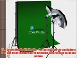 LimoStudio Photo Studio 10'x10' Double Muslin Black Green Chromakey Backdrop Background Support