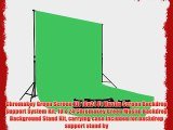 Chromakey Green Screen Kit 10x24 Ft Muslin Screen Backdrop Support System Kit 10 x 24 Chromakey