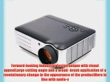 Taotaole Hd Projector Home Theater with HDMI/USB/AV/VGA 1280x800 Resolution 1500:1 2800 Lumens