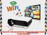 Excelvan? 2800 Lumens Wireless WIFI Internet Projector Built in Dual Core Android 4.2 OS Wireless