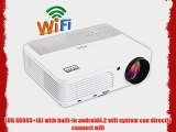 EUG X660S (A) New Android4.2 Bulit-in Wireless Wifi 3D Full HD Home Office LED Projector LCD