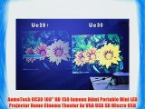 AomeTech UC30 100 HD 150 lumens Hdmi Portable Mini LED Projector Home Cinema Theater Av VGA