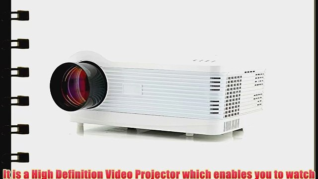 Multimedia HD 1080P LED Projector for Home Cinema by The Emperor of Gadgets? - Supports Laptop
