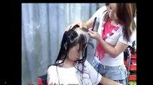 Head Shave ! Full head shaving video (Free hair Videos - Long Hair Cut Hair cutting Videos)