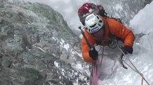 Max Bonniot grimpe une nouvelle voie dans les Hautes Alpes