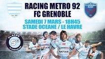 Top 14 au Stade Océane : Racing Metro 92 vs FC Grenoble