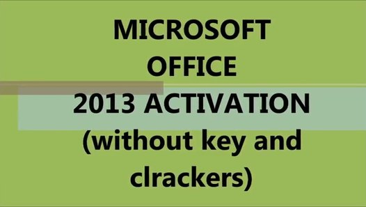 How To Activate Microsoft Office 2013 permanentaly - video dailymotion