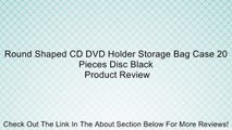 Round Shaped CD DVD Holder Storage Bag Case 20 Pieces Disc Black Review