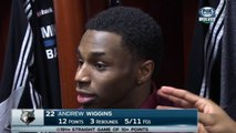 Thaddeus Young agace Andrew Wiggins