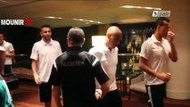 Brahimi, Bougherra et Slimani après le match face à la Côte d'Ivoire