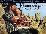Khamoshiyan Aawaz Hai Karaoke-Khamoshiyan-Arijit Singh