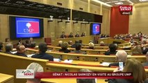 Sarkozy en visite au groupe UMP du Sénat