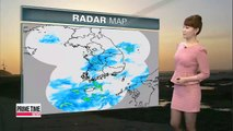 Snow, showers to fall through tomorrow morning