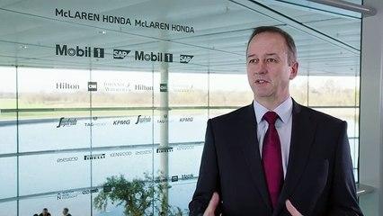 JONATHAN NEALE - Chief operating officer of McLaren Racing. McLaren-Honda MP4-30 Car Launch