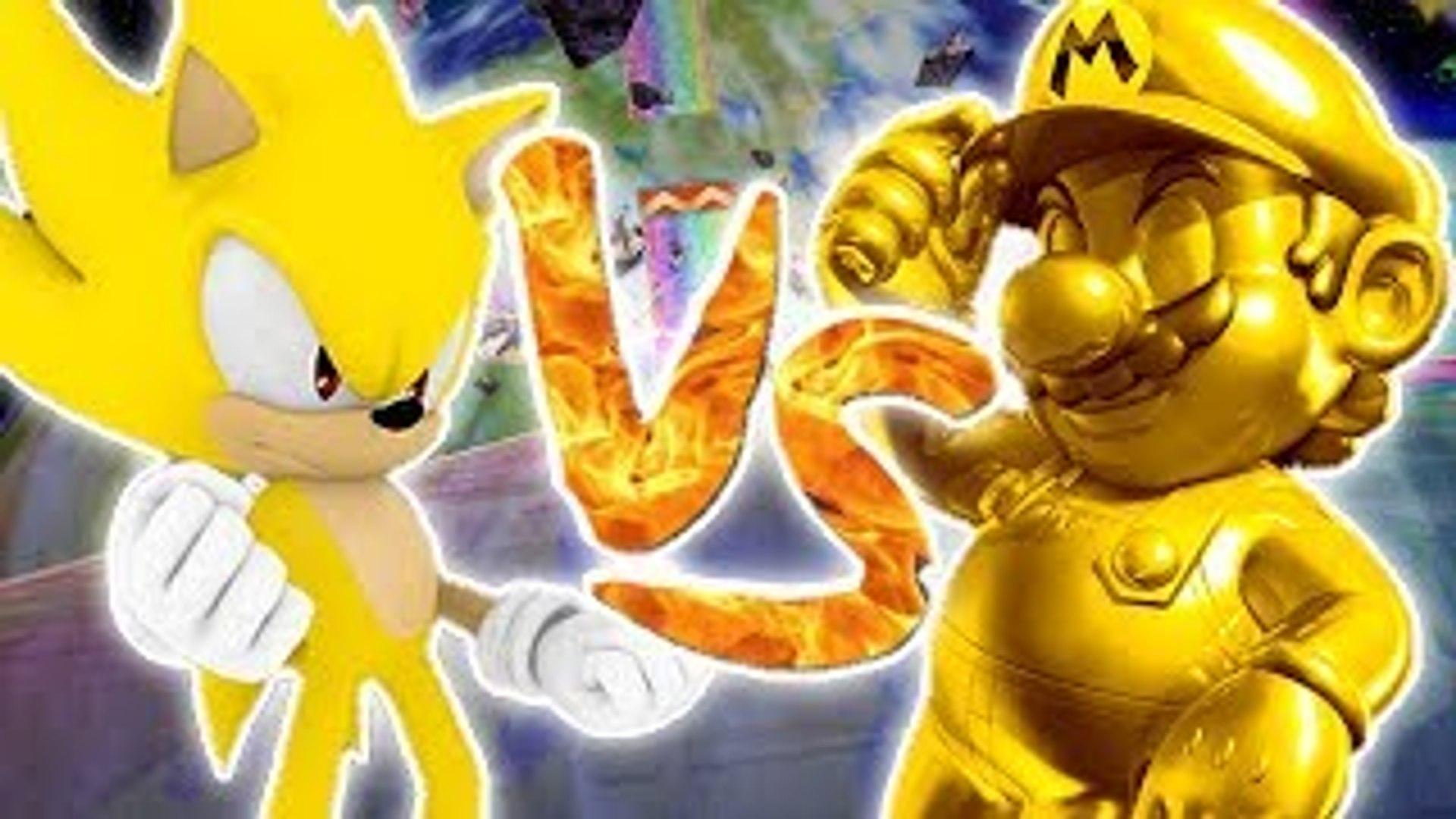 Super Smash Bros Brawl Golden Mario Vs Super Sonic High Definition