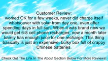 ALLPOWERS™ Solar Panel Charger 10000mAh 3.5A Dual-Port Portable Charger Backup External Battery Power Bank Pack with PowerIQ™ and Fast Charging Technology for iPhone 6 plus 5S 5C 5 4S 4, iPad Air, Other iPads, iPods, Samsung Galaxy S4, S3, S2, Note 3, Not